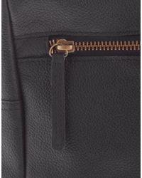 ASOS - Leather Wash Bag In Black - Lyst