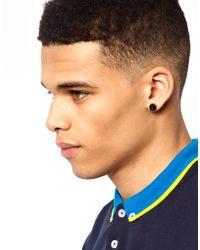 ASOS - Black Asos Plain Plug Earrings - Lyst