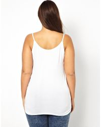 ASOS - White Exclusive Cami Top In Soft Stretch Jersey - Lyst