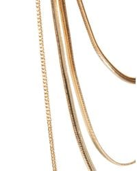 ASOS - Metallic Back Chain Necklace - Lyst