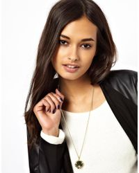 ASOS - Metallic Gold Plated Vintage Style Locket Necklace - Lyst