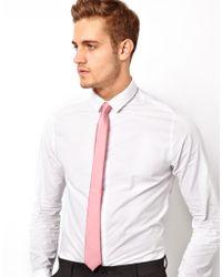 ASOS - Slim Tie In Pink for Men - Lyst
