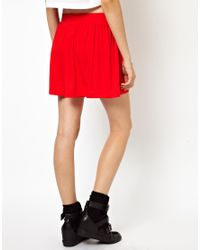 ASOS - Red Culottes with High Waist - Lyst