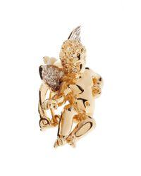 ASOS - Metallic Exclusive To Asos Cherub Clip Earrings - Lyst