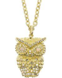 Carolina Bucci - Metallic Owl 18karat Gold Multistone Necklace - Lyst