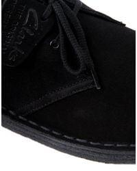 Clarks - Black Desert Boots for Men - Lyst