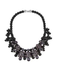 EK Thongprasert | Black Washington Heights Silverplated Cubic Zirconia and Silicone Necklace | Lyst