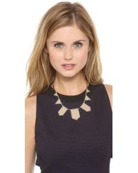 House of Harlow 1960 - Natural Pave Five Station Necklace - Lyst