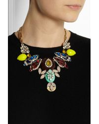 J.Crew - Yellow Goldtone Crystal Necklace - Lyst
