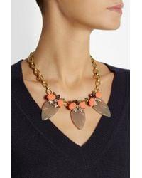 J.Crew - Metallic Arrowhead Goldtone Crystal Acetate and Cubic Zirconia Necklace - Lyst
