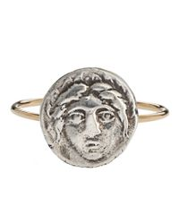 Laura Lee - Metallic Face Coin Ring - Lyst