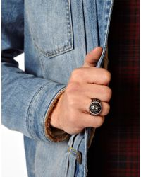 Simon Carter - Metallic Reclaimed Vintage Lion Charm Ring for Men - Lyst