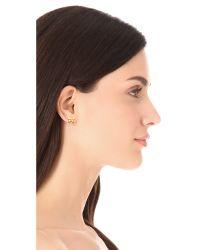 Tory Burch - Metallic Sylbie Simple Butterfly Stud Earrings - Lyst
