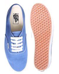 Vans - Blue Authentic Plimsolls for Men - Lyst
