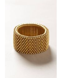 Anthropologie - Metallic Forestline Beaded Bracelet - Lyst