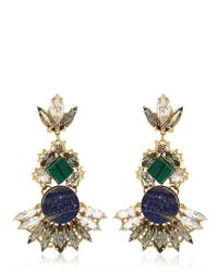 Anton Heunis | Blue Geometric Crystal Cluster Earrings | Lyst