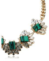 Anton Heunis - Green Multi Fan Shape Necklace - Lyst