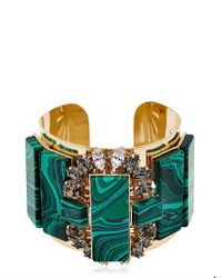 Anton Heunis - Green Rectangles Crystal Cluster Cuff Bracelet - Lyst