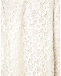 ASOS - White Skater Skirt in Floral Lace - Lyst