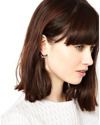 ASOS | Black Stud Earrings With Precious Stone | Lyst