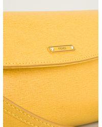 Fendi - Orange Logo Plaque Shoulder Bag - Lyst