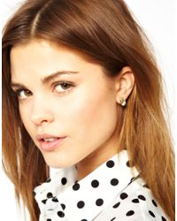 French Connection - Metallic Knot Stud Earring - Lyst