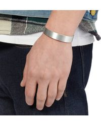 Le Gramme - Metallic Le 41 Matte Silver Cuff for Men - Lyst