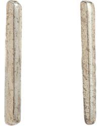 Loren Stewart | Metallic Silver Small Rod Earrings | Lyst