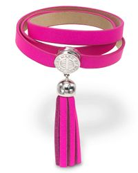 Marc By Marc Jacobs | Pink Triple Wrap Leather Bracelet | Lyst