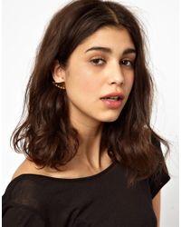 Maria Francesca Pepe - Metallic Thorn Shape Stud Earrings with Spikes - Lyst