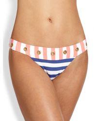 OndadeMar | Pink Grommet-Detail Banded Bikini Bottom | Lyst
