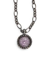 Slane - Purple Pink Sapphire Sterling Silver Pendant - Lyst