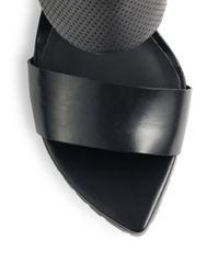 Tibi - Black Evie Leather Ankle-Strap Sandals - Lyst