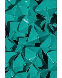 Antonio Berardi | Green Pailetteembellished Crepe Mini Skirt | Lyst