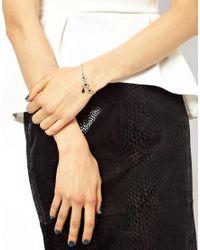ASOS - Black Filigree Charm Bracelet - Lyst