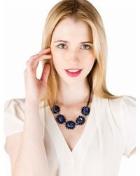 BaubleBar - Blue Sapphire Bud Necklace - Lyst