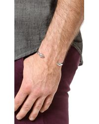 Eddie Borgo - Metallic Two Cone Cuff for Men - Lyst