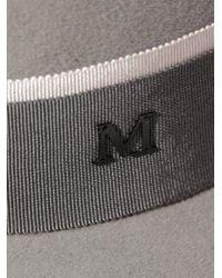 Maison Michel | Gray Virginie Fedora Hat for Men | Lyst