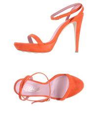 Noiselle By Eh | Orange Platform Sandals | Lyst