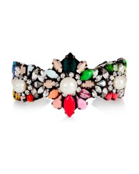Shourouk | Purple Rainbow Pearl Silver-plated, Swarovski Crystal And Faux Pearl Cuff | Lyst