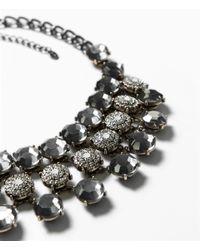 Zara | Gray Jewel Necklace | Lyst