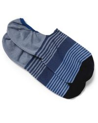 Paul Smith - Blue Striped Cotton-Blend Loafer Socks for Men - Lyst