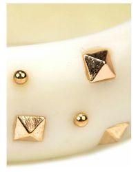 Adia Kibur - White Resin Stud Bracelet - Lyst