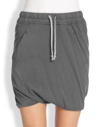 DRKSHDW by Rick Owens - Gray Drawstring Short skirt - Lyst