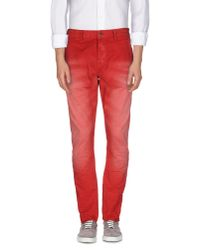 Scotch & Soda - Red Casual Pants for Men - Lyst