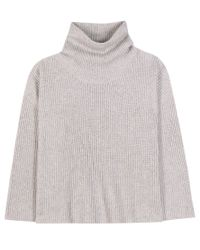 The Row | Gray Kaima Cashmere And Silk Turtleneck Sweater | Lyst
