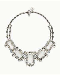 Ann Taylor - Metallic Opal Stone Statement Necklace - Lyst