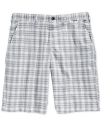 Hurley | Natural Dri-fit Aliso Plaid Shorts for Men | Lyst