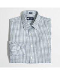 J.Crew - Blue Factory Thompson Voyager Dress Shirt In Mini-Tattersall for Men - Lyst