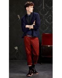BOSS Orange | Blue Cotton Sweatshirt Jacket 'wictoro' for Men | Lyst